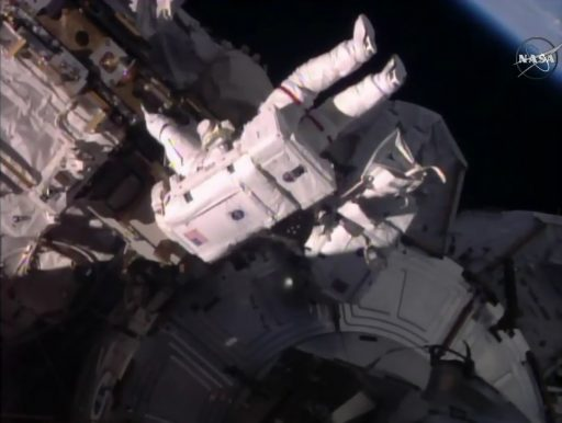 Airlock Egress - Photo: NASA TV