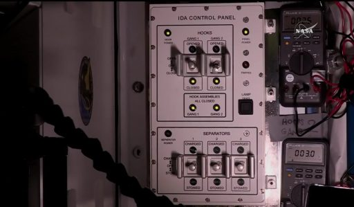IDA Control Unit showing good hooks - Photo: NASA TV