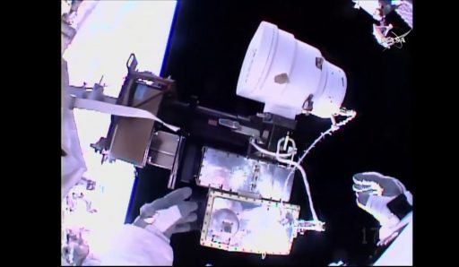 CP09 with EHDCA installed - Photo: NASA TV