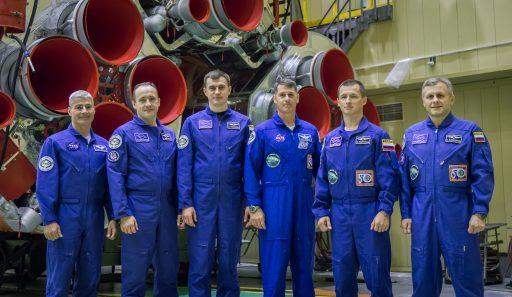 Soyuz MS-02 Prime & Backup Crews - Photo: NASA