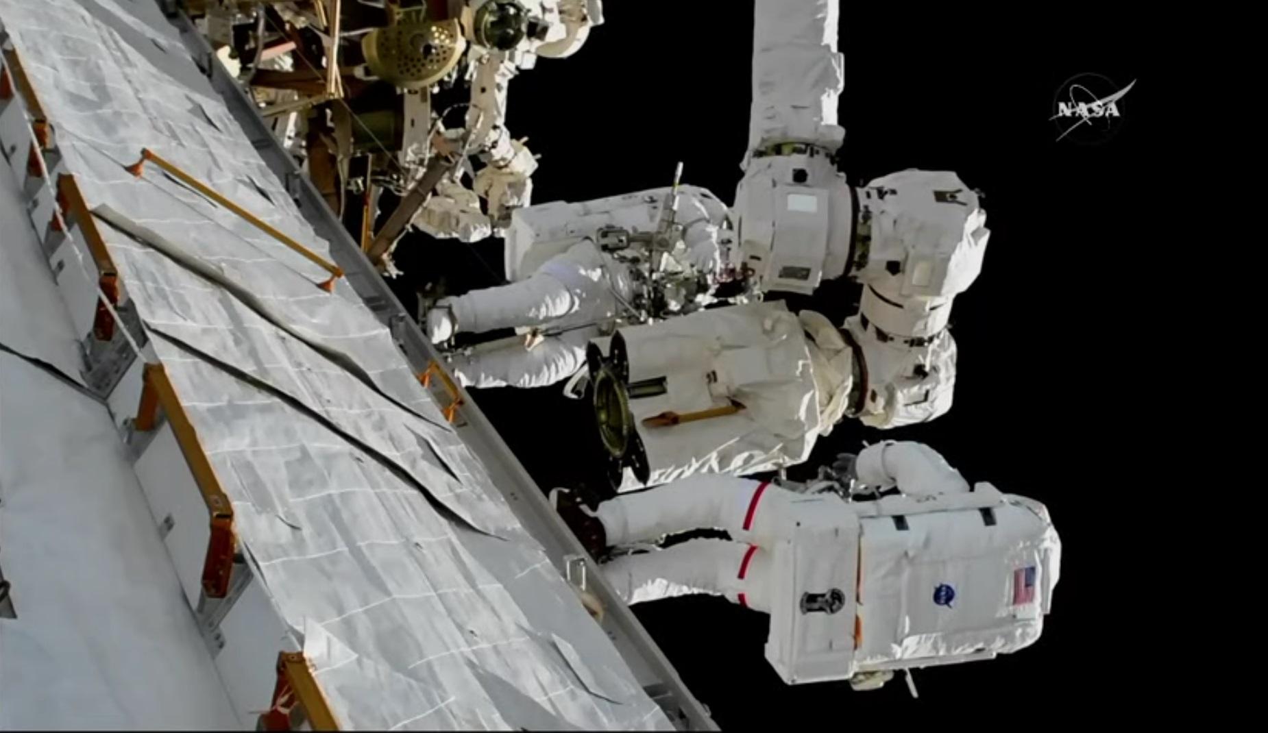 U.S. Spacewalkers Repair Space Station Robotic Arm in ...
