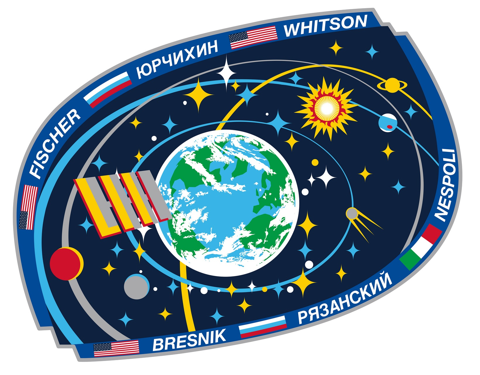 ISS Expedition 52 Crew Patch - Credit: NASA/Roscosmos