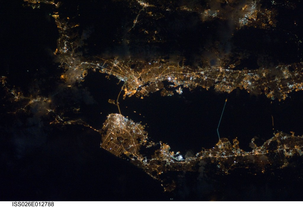 California's Bay Area at Night