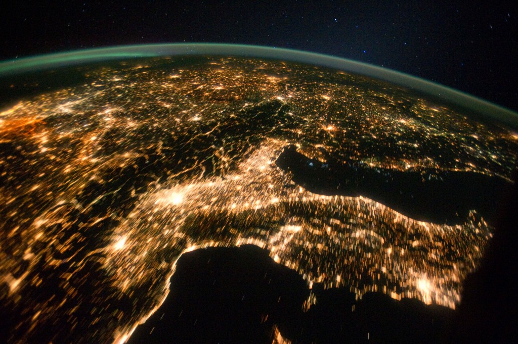 Central and Eastern Europe at Night