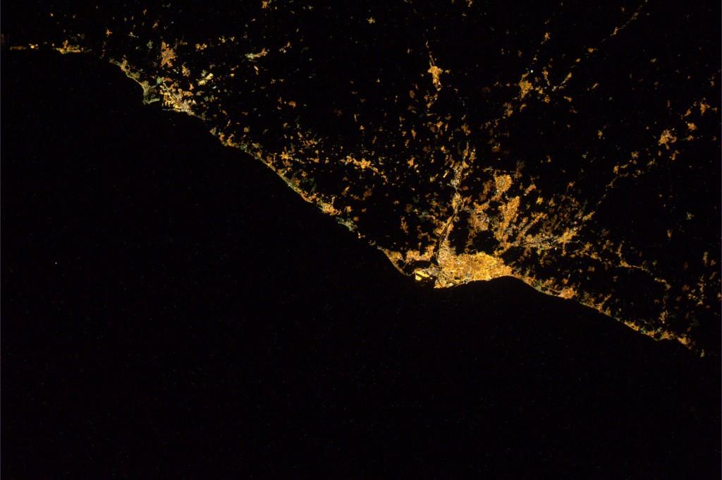 Coast between Tarragona and Barcelon