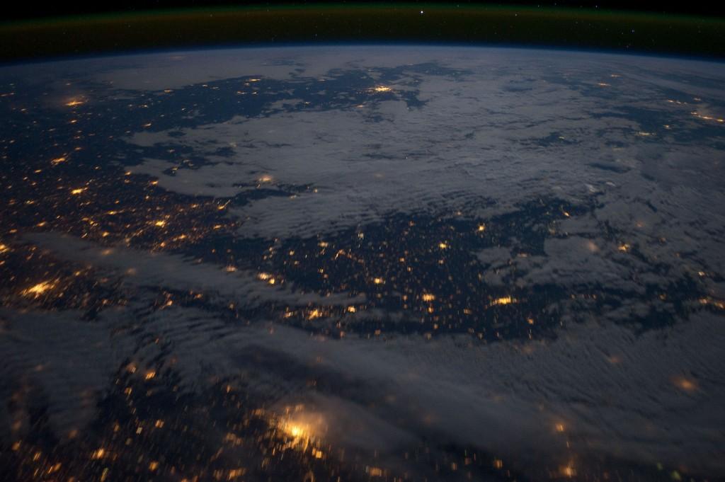 Eastern Europe at Night