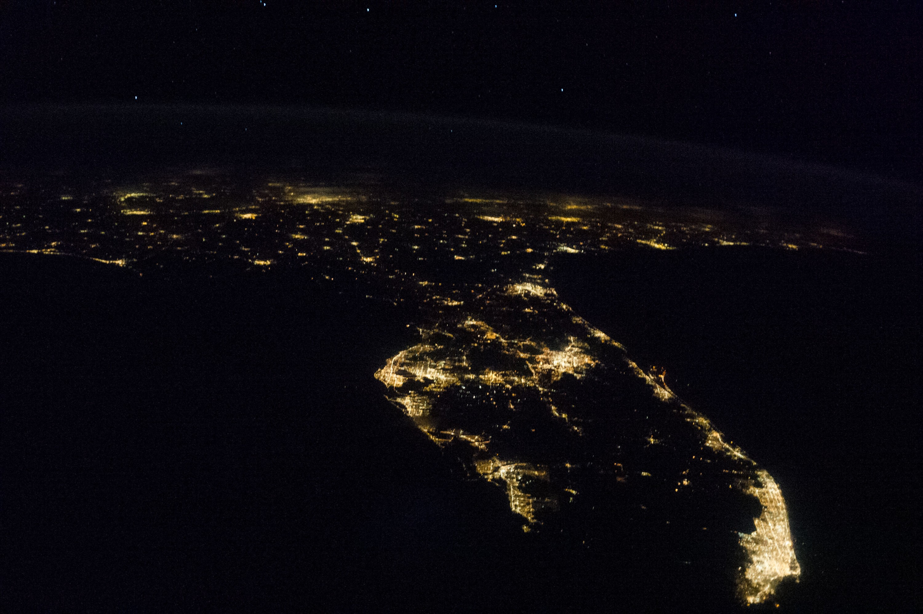 Earth at night spaceflight101 international space station for Space station florida