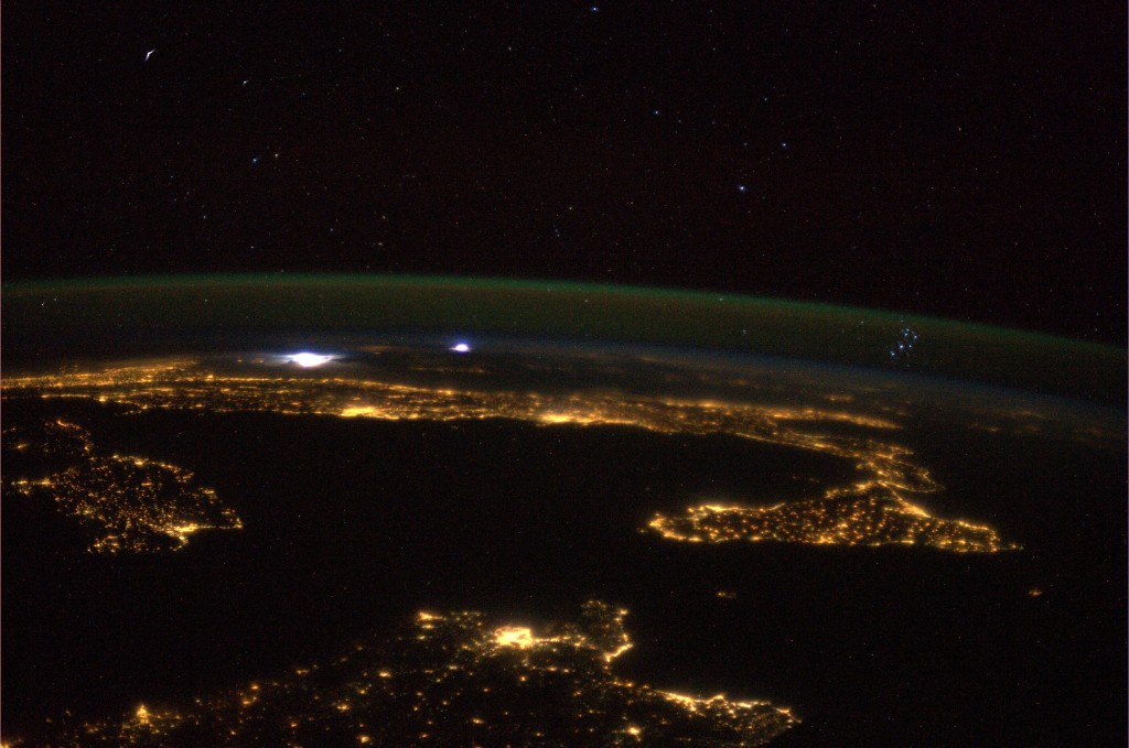 The Mediterranean, the Pleiades and a storm