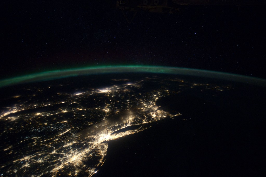 U.S. East Coast at Night
