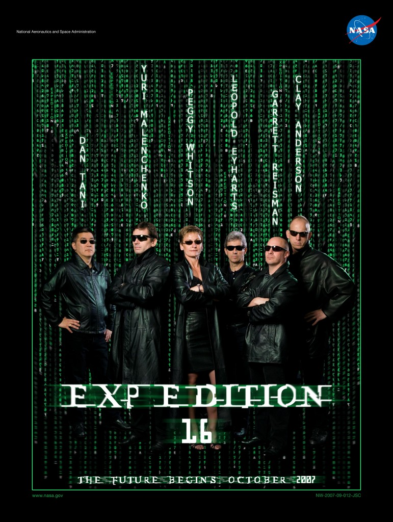 Expedition 16 ''The Matrix'' NASA Space Flight Awareness crew poster