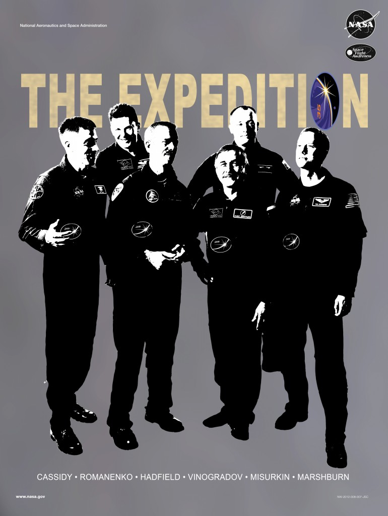 Expedition 35 crew poster