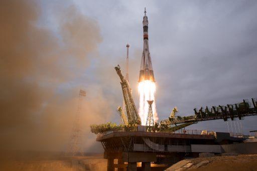 Soyuz MS-02 Launches from Baikonur - Photo: NASA/Joel Kowsky