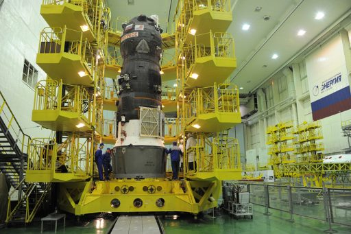 Progress MS-04 during Pre-Launch Processing - Photo: RSC Energia