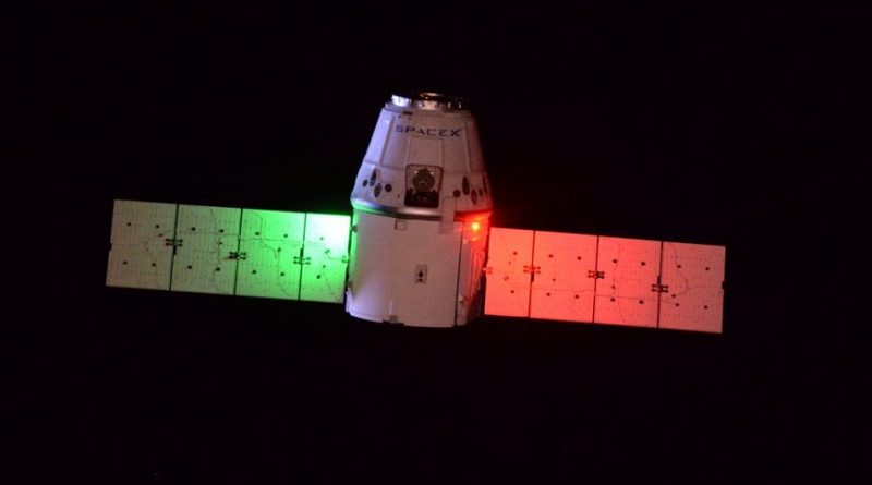 Dragon Cargo Craft successfully Captured by Space Station Crew after extended Rendezvous
