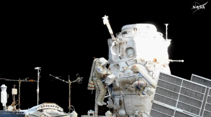 Russian Spacewalkers Collect Overtime in Busy EVA for Satellite Release, Sampling & External Outfitting