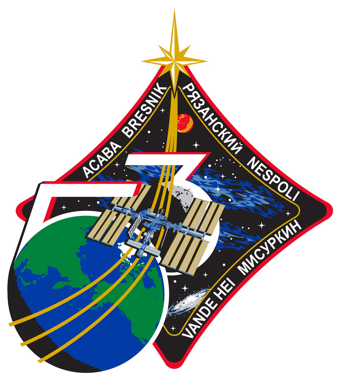ISS Expedition 53 Crew Patch - Credit: NASA/Roscosmos