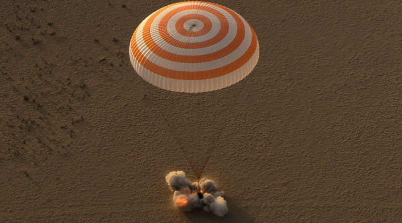 Safe Soyuz Touchdown at Sunrise Returns U.S.-Russian Crew after Record-Setting Space Mission