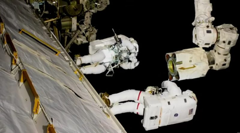 U.S. Spacewalkers Repair Space Station Robotic Arm in Successful 7-Hour Excursion