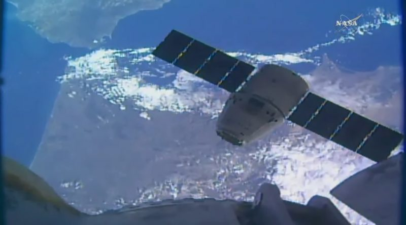 Previously-Flown Dragon Cargo Craft Captured by Space Station Crew for Second Supply Delivery