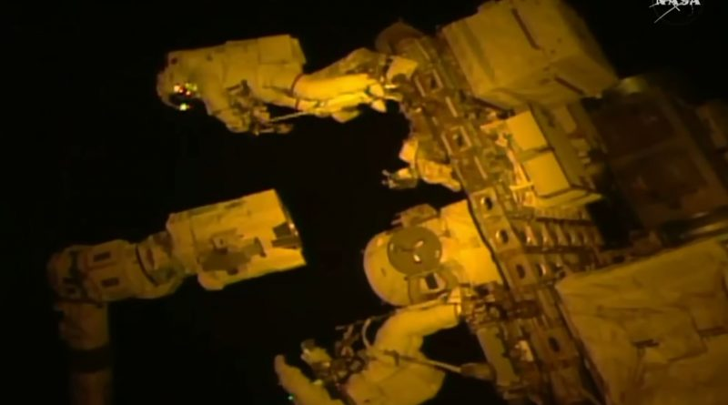 Space Station Robotic Arm Receives New Grappling Hand in Challenging 7-Hour Spacewalk
