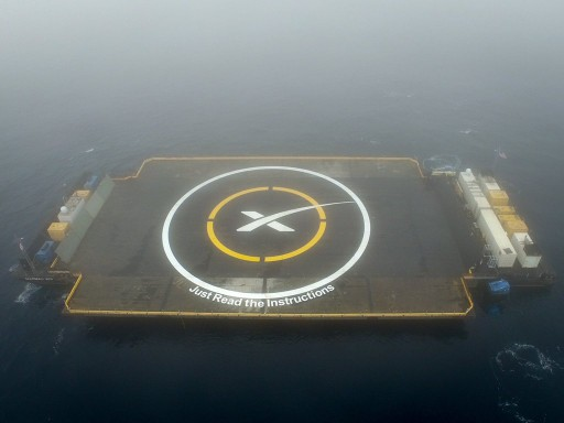 Drone Ship in Position south of the launch site - Photo: SpaceX