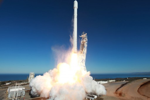 Falcon 9 v1.1 inaugural launch with Canada's Cassiope satellite and secondary payloads - Credit: SpaceX