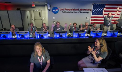 The NASA Team celebrates Juno's arrival at Jupiter - Photo: NASA