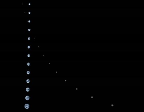 Earth & Moon seen by Juno on its outbound leg after the Flyby - Photo: NASA/JPL-Caltech/DTU