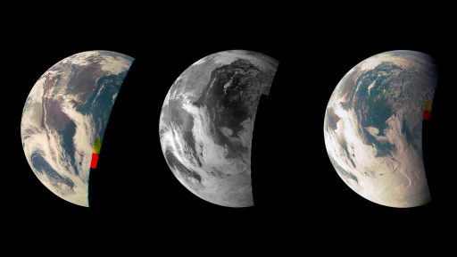 Earth seen by JunoCam during the Flyby - Credit: NASA/JPL/Caltech/MSSS