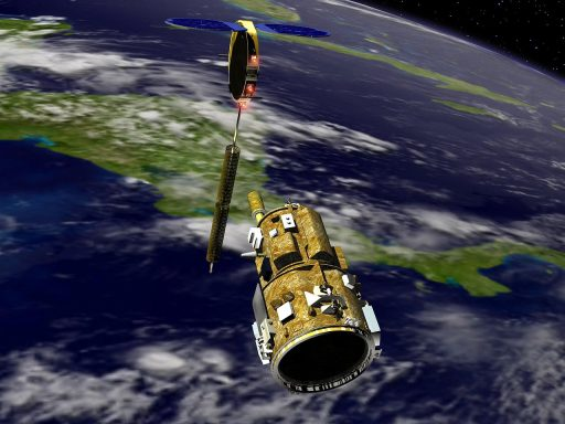 DART Rendezvous Demonstrator & MUBLCOM Target Satellite - Image: NASA