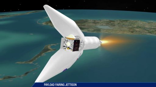 Payload Fairing Jettison - Image: United Launch Alliance