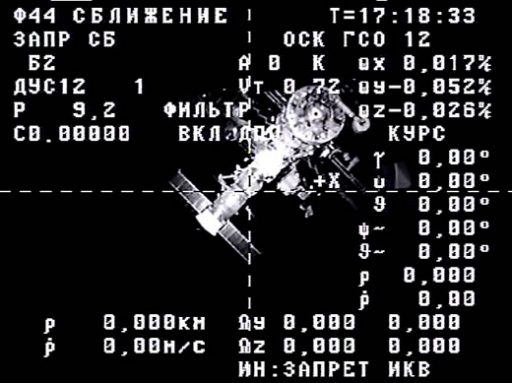 View of ISS during Progress Departure - Credit: Roscosmos/TsUP