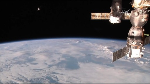 Progress Arrives at ISS - Photo: NASA TV