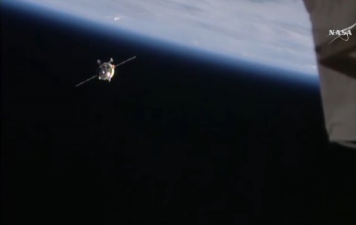 Progress M-29M during Rendezvous - Photo: NASA TV