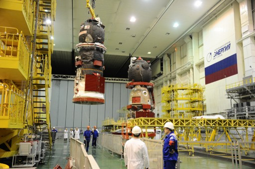 Progress & Soyuz Family Portrait (first Soyuz MS in the background) - Photo: RSC Energia