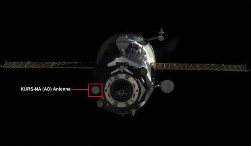 KURS-NA AO-753A Antenna - Image: NASA