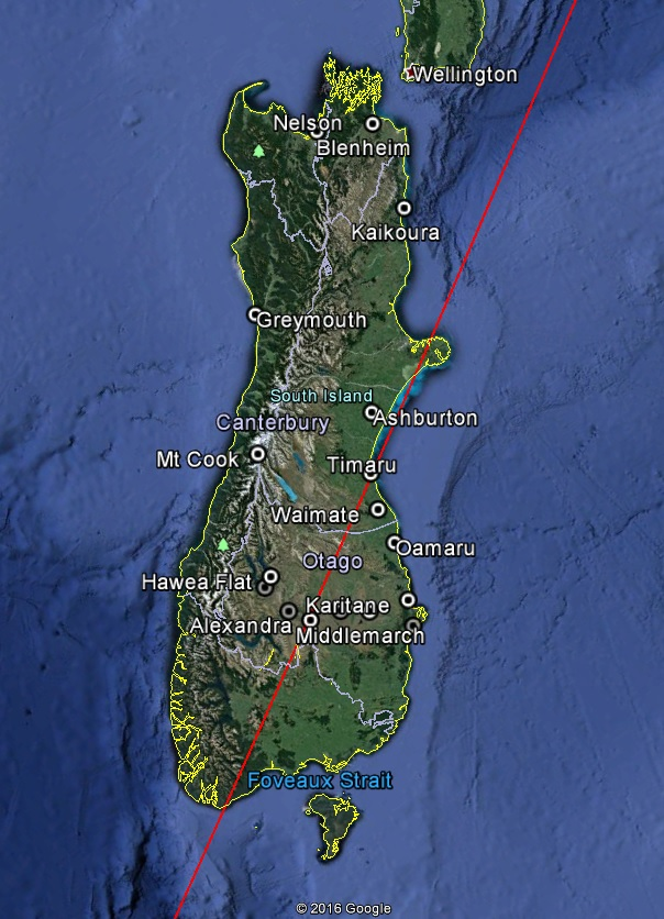 Block I Ground Track & Observation Locations - Image: Google Earth/Spaceflight101