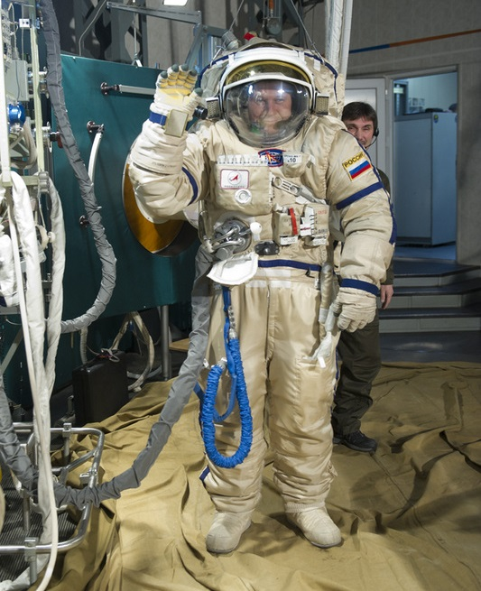 Russia's Orlan Space Suit - Photo: Gagarin Cosmonaut Training Center