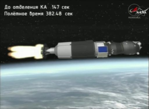Image: NASA TV/Roscosmos