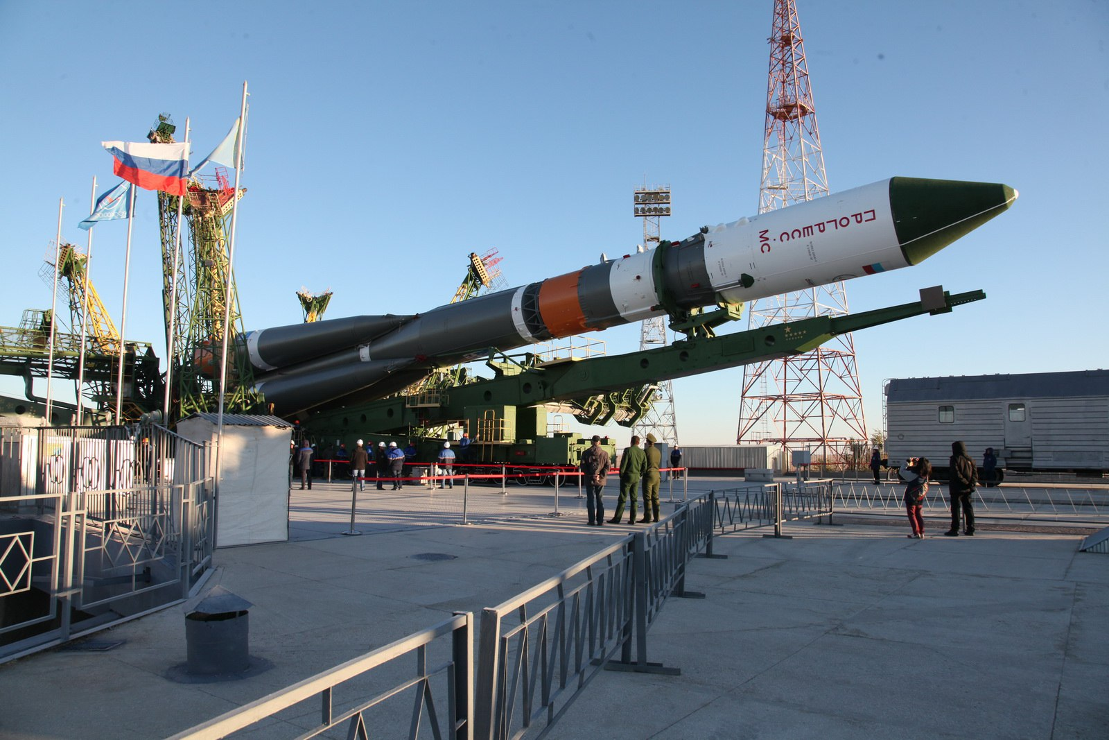 Gallery: Soyuz Rocket Rolls out to Baikonur Launch Pad with Fresh ...