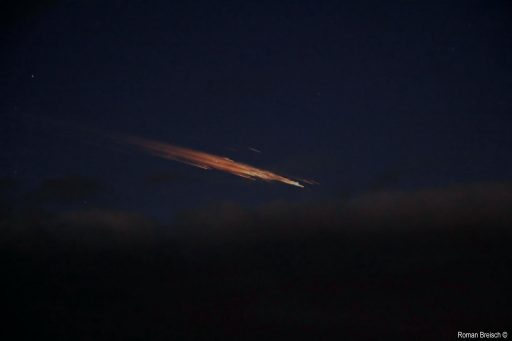 Christmas 2011 - A Soyuz rocket stage re-enters over Germany - Credit: Roman Breisch
