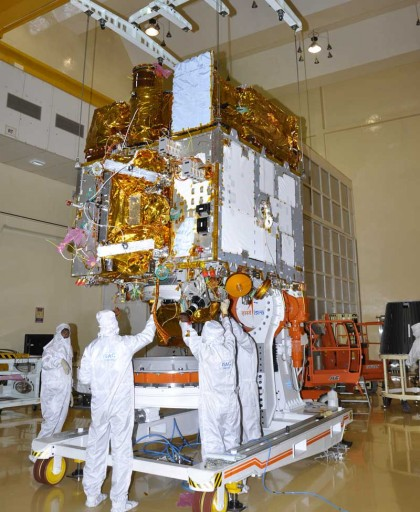 AstroSat during Assembly - Photo: ISRO