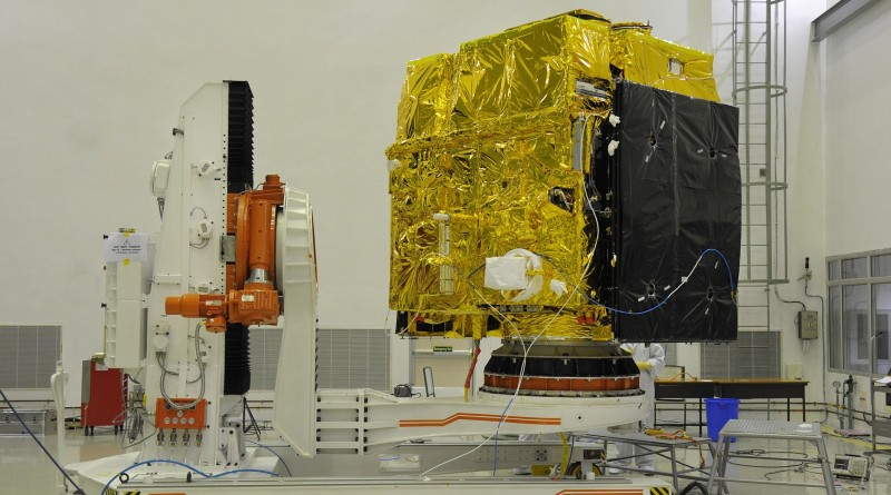 astrosat-during-pre-launch-test-clean-room
