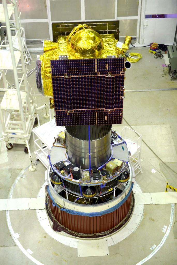 irnss-1espacecraftintegratedwithpslv-c31