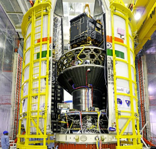 PSLV C34 Payload Stack - Photo: ISRO