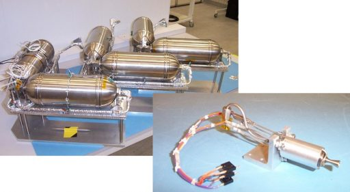Butane Prop Modules & Resistojet Thruster - Photos. SSTL