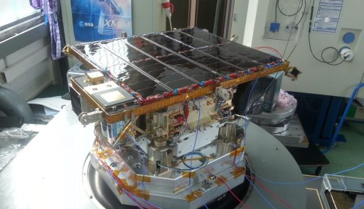 Venta and Max Valier Satellites during Vibration Testing - Photo: Ventspils University