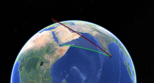 WT1190F Re-Entry Trajectory - Data courtesy of Bill Gray, Project Pluto