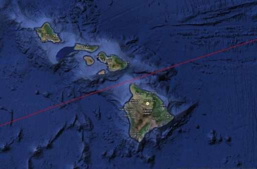 CZ-3 R/B Ground Track over Hawaii - Image: Spaceflight101/TLE Analyser