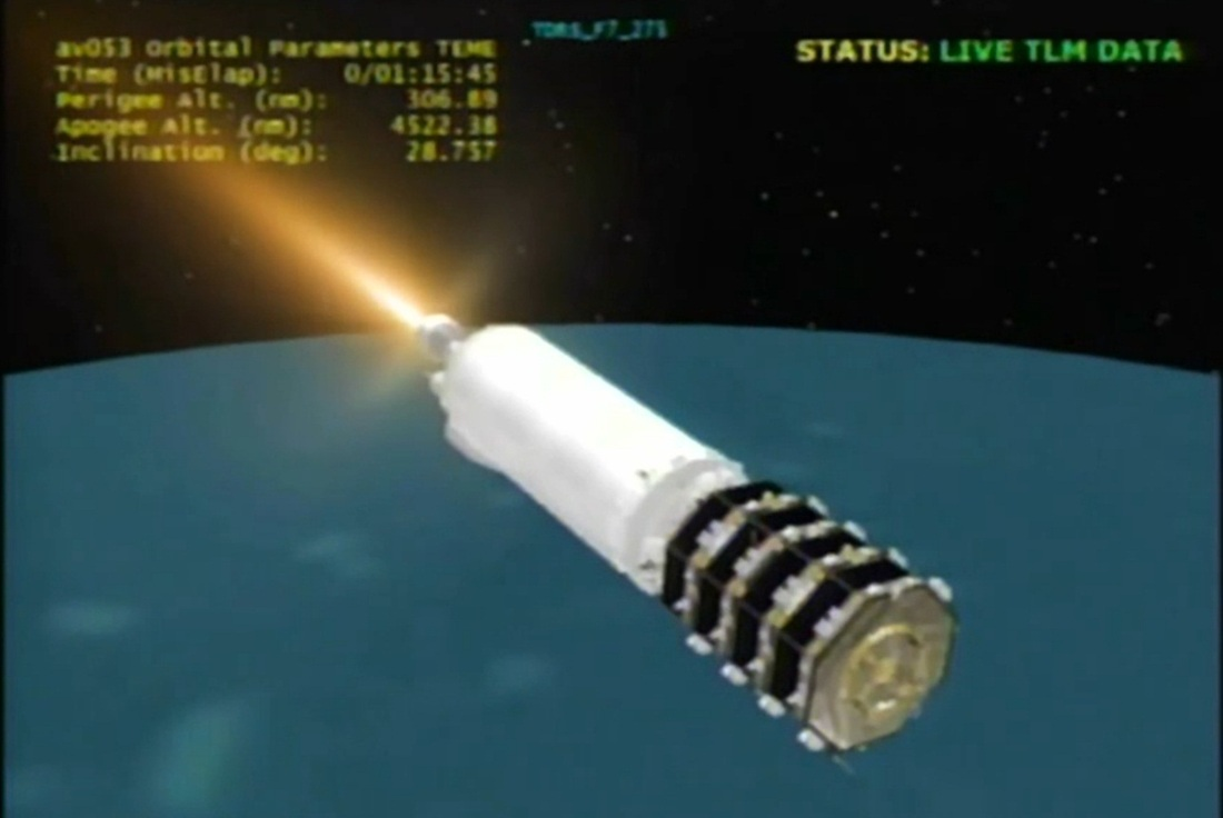 Re Entry Centaur Rocket Stage From Mms Launch Spaceflight101